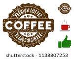 premium coffee reward medallion ... | Shutterstock .eps vector #1138807253