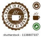 made in brasil medallion stamp. ... | Shutterstock .eps vector #1138807337