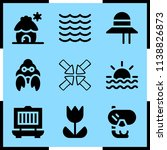 simple icon set of summer... | Shutterstock .eps vector #1138826873