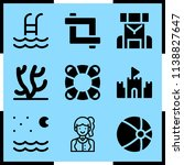 simple icon set of summer... | Shutterstock .eps vector #1138827647