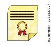 parchment diploma graduation... | Shutterstock .eps vector #1138837727