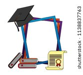 graduation frame with set icons | Shutterstock .eps vector #1138837763