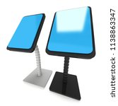 lcd screen stand. trade show... | Shutterstock . vector #1138863347