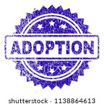 adoption stamp watermark with... | Shutterstock .eps vector #1138864613