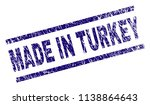 made in turkey stamp seal... | Shutterstock .eps vector #1138864643