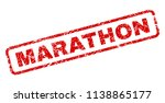 marathon stamp seal print with... | Shutterstock .eps vector #1138865177