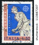 italy   circa 1974  stamp... | Shutterstock . vector #113887207
