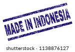 made in indonesia stamp seal... | Shutterstock .eps vector #1138876127