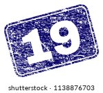 19 stamp seal print with grunge ... | Shutterstock .eps vector #1138876703