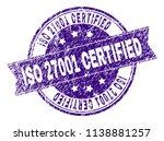iso 27001 certified stamp seal... | Shutterstock .eps vector #1138881257