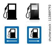 Gas Station Sign. Illustration...