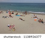 people are resting on the... | Shutterstock . vector #1138926377