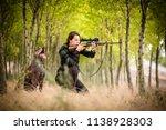 autumn hunting season. hunting. ... | Shutterstock . vector #1138928303