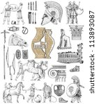 old greek set illustration | Shutterstock . vector #113893087
