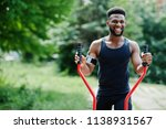 african american male athlete... | Shutterstock . vector #1138931567