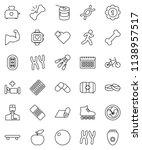 thin line vector icon set  ... | Shutterstock .eps vector #1138957517