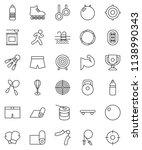 thin line vector icon set  ... | Shutterstock .eps vector #1138990343