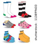 socks collection | Shutterstock .eps vector #113899603