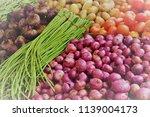 vegetables farmers market | Shutterstock . vector #1139004173