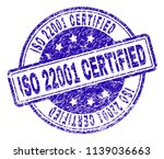 iso 22001 certified stamp seal... | Shutterstock .eps vector #1139036663