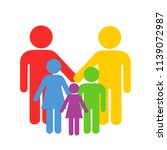 lgbt and homosoexual parenting  ... | Shutterstock .eps vector #1139072987