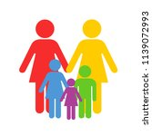 lgbt and homosoexual parenting  ... | Shutterstock .eps vector #1139072993