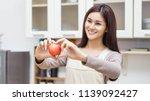 woman diet concept | Shutterstock . vector #1139092427