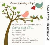 Lovebirds Card Template