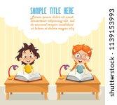 vector illustration of children ... | Shutterstock .eps vector #1139153993