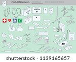 first aid elements isometric... | Shutterstock .eps vector #1139165657