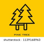pine tree icon | Shutterstock .eps vector #1139168963