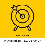 archery icon signs | Shutterstock .eps vector #1139173487