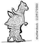 abstract illustration of bear... | Shutterstock .eps vector #1139173583