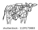 abstract illustration of cow... | Shutterstock .eps vector #1139173883