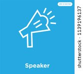 speaker vector icon isolated on ... | Shutterstock .eps vector #1139196137