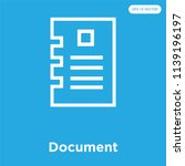 document vector icon isolated... | Shutterstock .eps vector #1139196197