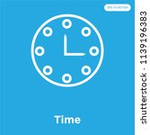 time vector icon isolated on... | Shutterstock .eps vector #1139196383