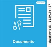 documents vector icon isolated... | Shutterstock .eps vector #1139196437