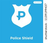 police shield vector icon... | Shutterstock .eps vector #1139199437