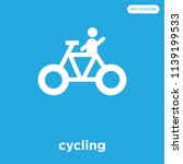 cycling vector icon isolated on ... | Shutterstock .eps vector #1139199533