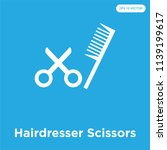 hairdresser scissors vector... | Shutterstock .eps vector #1139199617