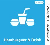 hamburguer   drink vector icon... | Shutterstock .eps vector #1139199653