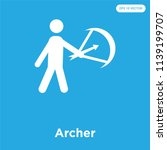 archer vector icon isolated on... | Shutterstock .eps vector #1139199707