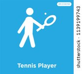tennis player vector icon... | Shutterstock .eps vector #1139199743
