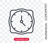 clock vector icon isolated on... | Shutterstock .eps vector #1139199797