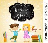 back to school vector... | Shutterstock .eps vector #1139224763