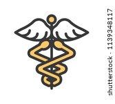 caduceus a symbolic represents  ...   Shutterstock .eps vector #1139348117