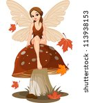 Autumn Fairy Sitting On...