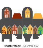 present box with houses | Shutterstock .eps vector #113941417