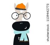 cute hand drawn nursery poster... | Shutterstock .eps vector #1139442773